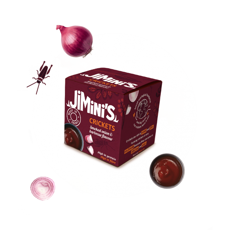 Crickets smoked onion & barbecue flavour