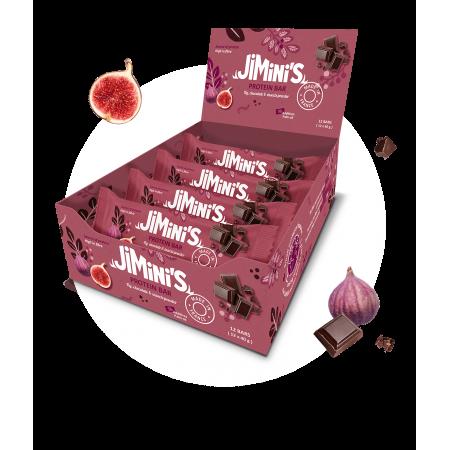 Feige und Schokolade Protein Riegeln