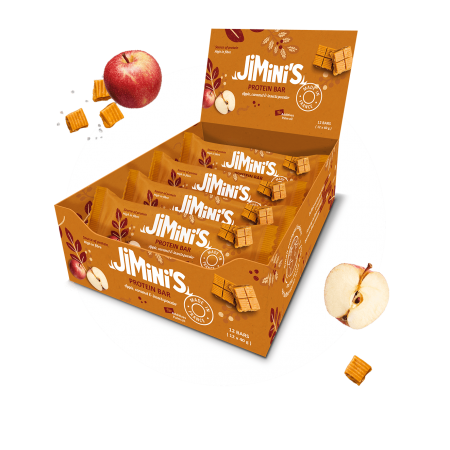 Apple and caramel protein bars
